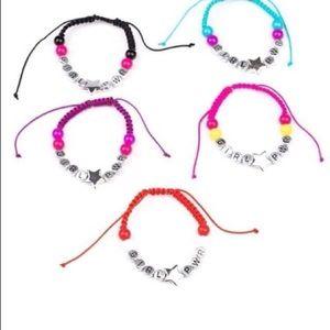 Paparazzi 10 piece girl power bracelets